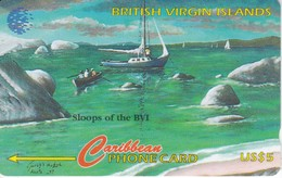 TARJETA DE VIRGIN ISLANDS DE UN VELERO  (SHIP)  193CBVF - Islas Virgenes