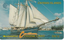 TARJETA DE CAYMAN ISLANDS DE UN VELERO (SHIP-BARCO) 8CCIB - Cayman Islands