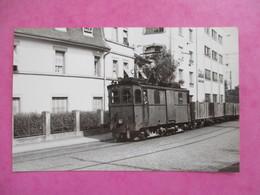 PHOTO TRAIN 67 STRASBOURG TRACTEUR FOURGON1926 RUES DE LA MEINAU PHOTO M.GEIGER - Trains