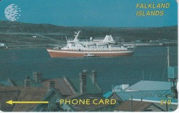TARJETA DE FALKLAND ISLANDS DE UN BARCO  2CWFB  (SHIP-BARCO) - Falkland Islands