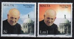 Malta Set Of Stamps From 2007 To Celebrate The Canonization Of Dun Gorg Preca. - Malta