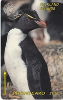 TARJETA DE FALKLAND ISLANDS DE UN PINGÜINO (PENGUIN) 1CWFA - Falkland