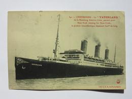 Cherbourg, Le Vaterland, De La Hamburg America Linie, Partant Pour New-York, Le Premier Transatlantique Dépassant 300m - Cherbourg