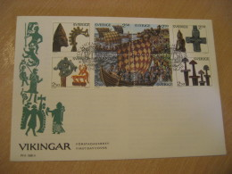 VIKINGS Vikingar STOCKHOLM 1990 FDC Cancel Cover SWEDEN History Viking Longship Drekar Drakkar - Altri