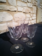 Trio De Verre BACCARAT En Cristal Signée Model CARCASSONNE - Glass & Crystal