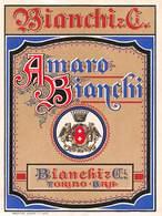 "D8450 ""(TO) BRA - BIANCHI & C. - AMARO BIANCHI""  II QUARTO XX SEC. ETICHETTA ORIGINALE. - Etiquettes"
