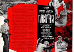 Dossier De Presse Cinéma L'Ambitieuse De Yves Allégret Avec Andréa Parisy, Edmond O'Brien, Richard Basehart. - Cinema Advertisement