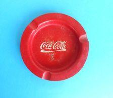 COCA-COLA ... Vintage Tin Ashtray * Cendrier Aschenbecher Posacenere Cenicero Cinzeiro - Aschenbecher