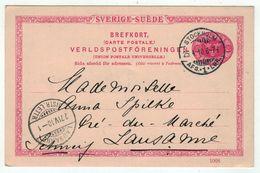 Suède // Entier Postaux // Entier Postal Pour Lausanne (Suisse) - Entiers Postaux