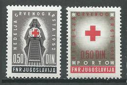 Yougoslavie Bienfaisance YT N°15/16 Croix-Rouge Neuf/charnière * - Beneficiencia (Sellos De)
