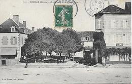 BONNAT La Grande Et La Petite Place Tabac  Editeur A. De Nussac Guéret 1910 - Other Municipalities