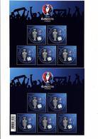 FRANCE Les 2 Blocs EURO 2016 Neufs à 1 € Et 2 € - Blocs & Feuillets