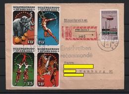 DDR 1986 Cover Gorlitz To Hamburg 17/03/86 - Circus M/S Mi 2983/2986 (Ref: 1700) - Covers & Documents