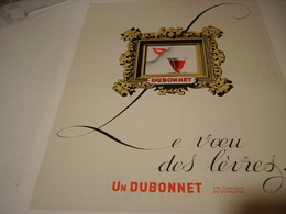 ANCIENNE PUBLICITE LE VOEU DES LEVRES VIN TONIQUE DUBONNET 1938 - Alcohols