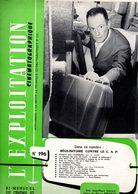Revue L'exploitation Cinématograpique. Bi-mensuel  N° 196 Du 20/09/1957 - Cinema Advertisement