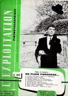 Revue L'exploitation Cinématograpique. Bi-mensuel  N° 217 Du 05/09/1958 - Cinema Advertisement