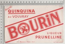 BUVARD  Quinquina Au Vouvray Liqueur Pruneline , Ets BOURIN à TOURS - Liquor & Beer