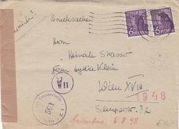 DEUTSCHES POST 1948 - 2x6 Pfg Auf Zensur-Brief, Gel. Deutschland > Wien - Allemagne