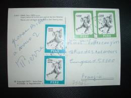 CP Pour La France TP PEROU INDIEN 28 00 Paire + TP 12 00 Paire OBL. 1978 PUNO - American Indians