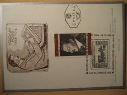 MOSER Yvert 1102 Painting WIEN 1968 Maxi Maximum Card AUSTRIA - Otros
