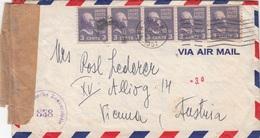 USA 1948? - 5x3 C Auf Zensur-Brief Mit Inhalt, Gel.v.New York > Vienna Austria - Vereinigte Staaten