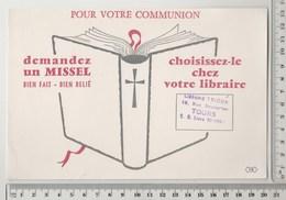 BUVARD MISSEL - Tampon Librairie TRIDON à TOURS - Stationeries (flat Articles)