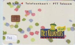NEDERLAND CHIP TELEFOONKAART CRD 500 * HET KLOKHUIS * Telecarte A PUCE PAYS-BAS ONGEBRUIKT MINT - Private
