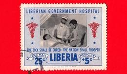 LIBERIA - Usato - 1954 - Ospedale Governativo Liberiano - Dottore, Infermiera E Paziente - 25+5 P. Aerea - Liberia