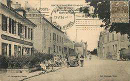 FONTENAY SAINT PÈRE - Place De L'église, Le Bureau De Tabac, Entrée Du Village. - Altri Comuni