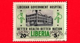 LIBERIA - Usato - 1954 - Ospedale Governativo Liberiano - 20+5 P. Aerea - Liberia
