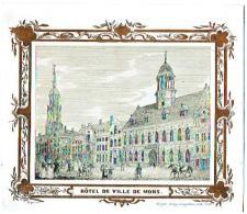 Hôtel De Ville De Mons  (Bruges, De Lay - De Muyttere, Lith. 1845) - Publicité