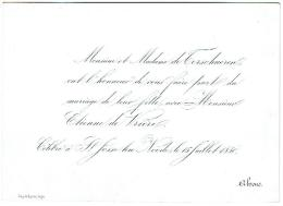 Monsieur Et Madame De Terschueren Ont L'honneur De Vous Faire Part Du Mariage De Leur Fille Avec Monsieur Etienne - Autres