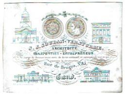 J.J. Soudan - Versturme Architecte Et Charpentier Rue De Bruges, N°85 Gand - Entrepreneur Se Charge De Dresser - Publicité