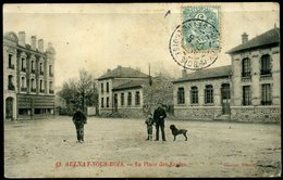 Cpa  Aulnay Sous Bois  Place Des Ecoles,   Animée - Aulnay Sous Bois