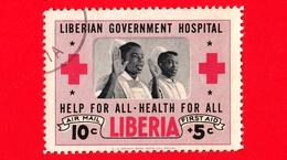 LIBERIA - Usato - 1954 - Ospedale Governativo Liberiano - Giuramento Dell'Infermiere - 10+5 P. Aerea - Liberia