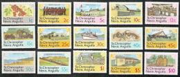 St. Chistopher-Nevis-Anguilla, Scott 2018 # 355-369,  Issued 1978,  Set Of 15,  MNH,  Cat $ 10.45,  Ag - St.Christopher-Nevis-Anguilla (...-1980)