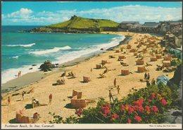 Porthmeor Beach, St Ives, Cornwall, C.1970s - John Hinde Postcard - St.Ives