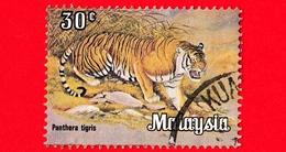 MALESIA - MALAYSIA - Usato - 1979 - Animali - Mammiferi - Tigre - Panthera Tigris - 30 - Malesia (1964-...)