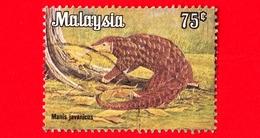 MALESIA - MALAYSIA - Usato - 1979 - Animali - Mammiferi - Pangolino Del Borneo - Manis Javanica - 75 - Malesia (1964-...)