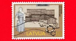 LETTONIA - LATVIJA - Usato -  1997 - 800 Anni Della Città Di Riga - 10 - Lettonia