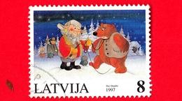 LETTONIA - LATVIJA - Usato - 1997 - Natale - Christmas - Orsi - Ilze Dambe - 8 - Lettonia