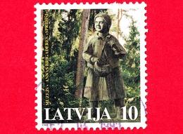 LETTONIA - LATVIJA - Usato - 1998 - Alberi - Fiabe - Foreste - Sculture -  Spridishi Memorial Museum - 10 - Lettonia
