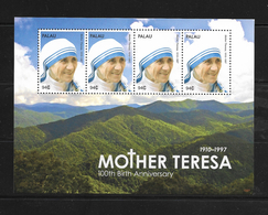 O) 2010 PALAU, MOTHER TERESA OF CALCUTTA - MOUNTAINS, MNH - Palau