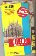 MILANO MILAN MAILAND FALK  1 : 19 000 -  1 : 27 000 - Roadmaps