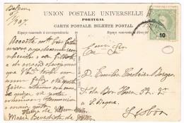 Portugal, 1890, Bilhete  Postal Porto De Lisboa, Belém-Lisboa - Cartas