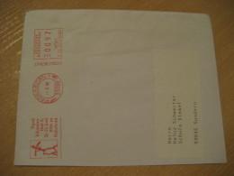 Visit Pope JOHN PAUL II Padeborn 1996 Meter Mail Cancel GERMANY Pape Jean-Paul II Papa Juan Pablo II Religion Vatican - Pausen