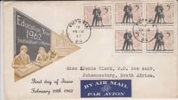 Canada Cover 1962 Airmail Label (Red-2102) - 1952-.... Elizabeth II