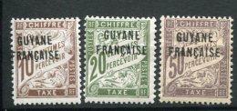 8409  GUYANE Française  Taxe 1/12 * Sauf 1,10,12 Timbres De France 1893-1926 Surchargés  TB - French Guiana (1886-1949)