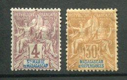 8411  St Marie De MADAGASCAR /MADAGASCAR N°3,36 *  B/TB - French Guiana (1886-1949)