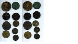 Lot De Jetons Et Monnaies - Romaines, Royales, Impériales : Napoléon 1er Et III - Münzen